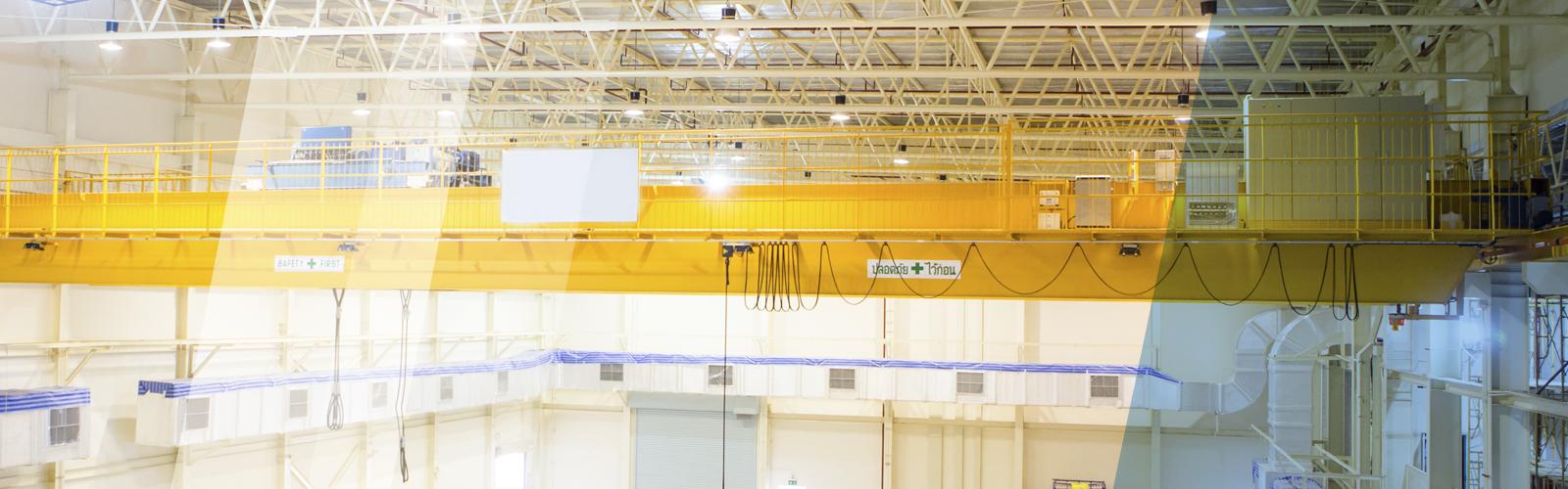 crane in warehouse